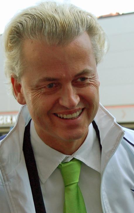Geert Wilders haciendo campaña en Rotterdam, Holanda, 5 de Junio, 2010. (Wouter Engler/Wikimedia Commons)