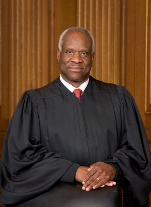Justice Clarence Thomas in 2007 (U.S. Supreme Court via Wikimedia Commons)