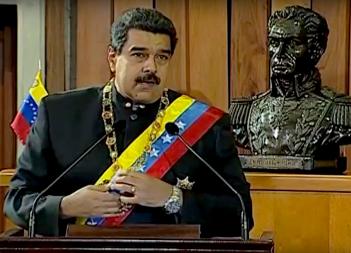Nicolás Maduro dando un discurso en el Tribunal Supremo de Justicia, 7 de febrero del 2017. (Gobierno de Venezuela via Wikimedia Commons)