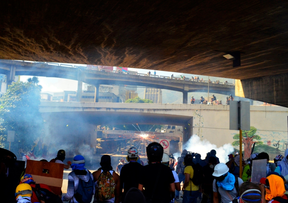 Carlos Díaz, Enfrentamientos en Bello Monte, Caracas,12 de abril del 2014